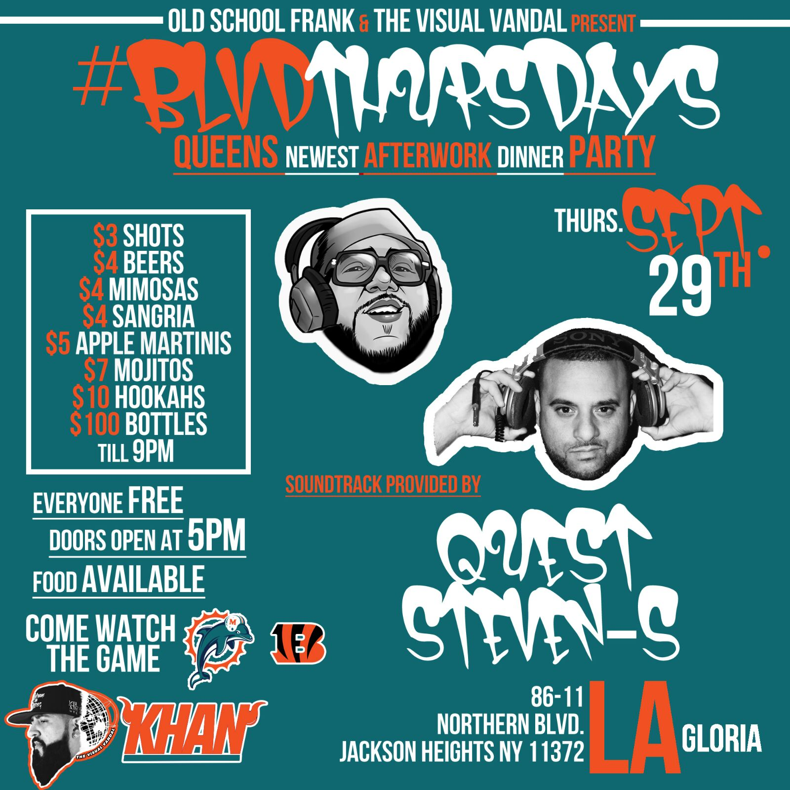 Dj Steven-S Blvd Thursdays afterwork party La gloria
