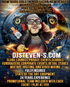 Dj Steven-S Now available in Orange County Ny for Bookings